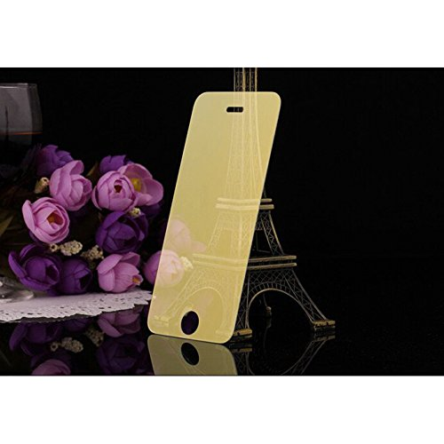 KING OF FLASH Licht Filter Goud Galaxy S6, Rand tot Rand Volledige Dekking Slank 0.3mm Tinted Onbreekbaar 3D Touch Compatibel Gehard glas Spiegel Effect