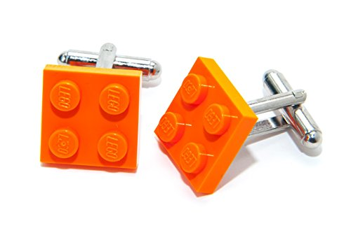 Jeff Jeffers Manschettenknöpfe Orange Legosteine hergestellt