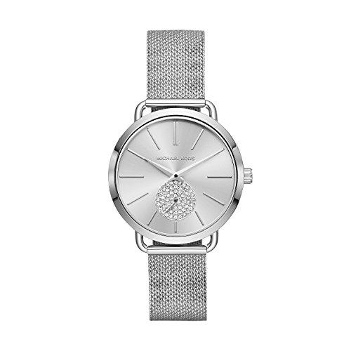 Michael Kors Damen Analog Quarz Uhr mit Edelstahl Armband MK3843