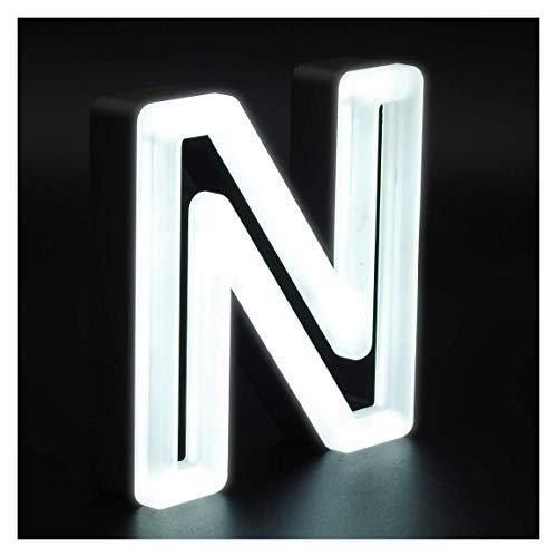 Letras iluminadas de 15x20cm con 3cm grosor de Acero Lateral con Frontal de Metacrilato efecto Neon y con luz frontal (3ZC0013Y). Personlizado (3ZC0013Y-1)