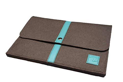 Schöne Tablet Tasche aus Wolle passend für Samsung Galaxy Note Pro 12.2 P900 P905 / Tab Pro 12.2 / Tab Pro S, Stoßfeste Tablet Hülle für Büro, Reise, Uni & zu Hause Davii in groß Hell-Blau