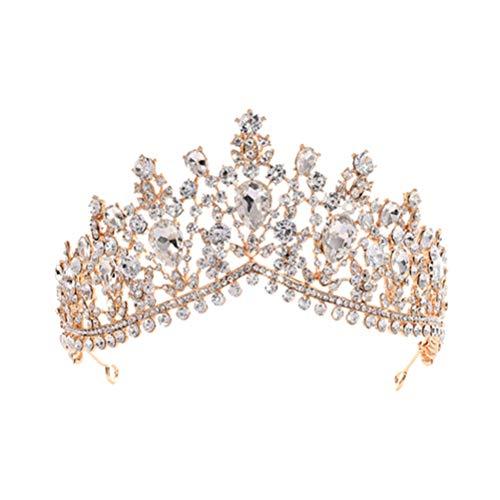 Frcolor Corona de Mujer Hecha a Mano de Lujo Princesa Pelo Banda...