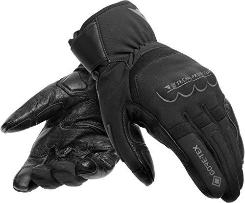 Dainese Thunder Gore-Tex - Guantes de moto impermeables, color negro y gris