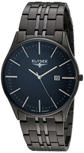 Elysee Diomedes II Herren-Armbanduhr mit hochwertigem Marken-Quarzwerk Lederarmband oder Milanaisearmband (83017)