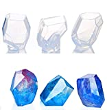 DOYOLLA 3 Clear Large Multi-Faceted Diamond Stone Jewelry Moulds DIY Spherical Silicone Transparent Round Molds Making Tool for Polymer Clay, Crafting, Resin Epoxy, Jewelry Making