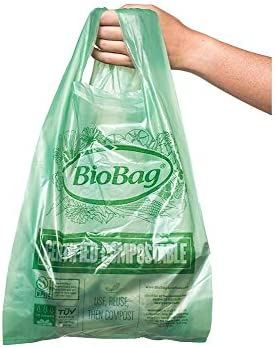 BioBag Certified Compostable Shopping Bags Small Shopper 600 Count product image