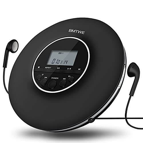 Portable CD Player Multi-Function Walkman Portable CD Player for Car/Home/Outdoor, Shockproof Small CD Music Player with Headphones LCD Display
