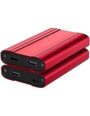 キャプチャーボード 4K入力 USB3.0 1080P 60FPS パススルー HD キャプチャーボックス ゲーム録画/ビデオ録画/ライブ配信/医用撮像/生放送用 Switch/PS5/PS4/Xbox/PS3/スマホ用 OBS/Potplayer/XSplit適用 Mac/Windows/7/8/10/Linux OS対応