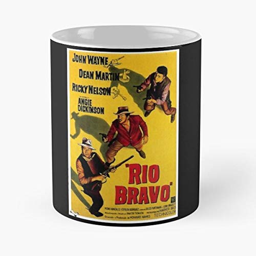Desconocido DVD Bravo Rio John Wayne Movie Vintage Theatre Film Taza de café con Leche 11 oz