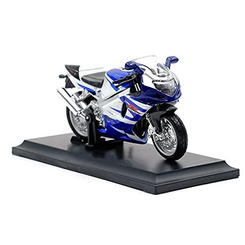 Modelo Escala 1:18 para Suzuki GSXR750 Aleación Diecast Modelo De Motocicleta Forma De Juguete para Niños para Niños para Niños Colección De Juguetes