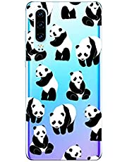Oihxse Cristal Compatible con Huawei P10 Funda Ultra-Delgado Silicona TPU Suave Protector Estuche Creativa Patrón Panda Protector Anti-Choque Carcasa Cover(Panda A5)