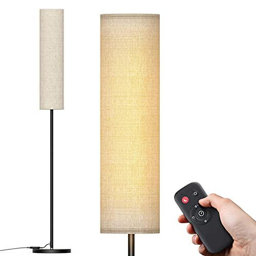 Floor Lamp,dodocool LED Floor Lamp for Living Room with Lamp Shade,2800K-7000K Modern Standing Floor Lamps with Timer & Stepless Dimmer,Remote & Touch Control Floor Lamp for Bedroom Office Reading