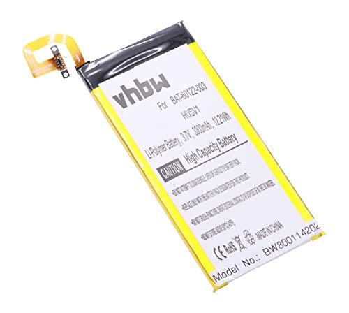 vhbw Li-Polymer Akku 3300mAh (12V) passend für Handy Smartphone Handy BlackBerry Priv, RHK211LW, STV100-1, STV100-2 XLTE, STV100-3 TD-LTE, STV100-4