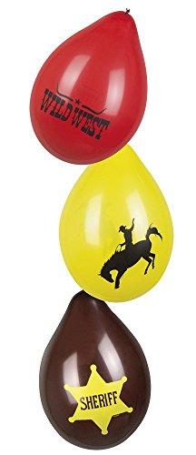 Neu: 6 Luftballons * Sheriff * für Kindergeburtstag und Motto-Party | Wilder Westen Cowboy Amerika Kinder Geburtstag Mottoparty Ballons Deko Dekoration