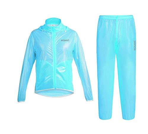 Dubao Fietskleding, outdoor-waterdicht fietspak paardrijden, regenjaset, geschikt voor heren en dames, outdoorsport + reflecterend design, 3 kleuren