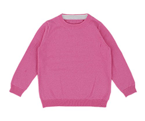Taiycyxgan Baby Boys Girls Pullover Knit Sweater Unisex Kid Sweatshirt Solid Color 1-5T Pink 12-18M