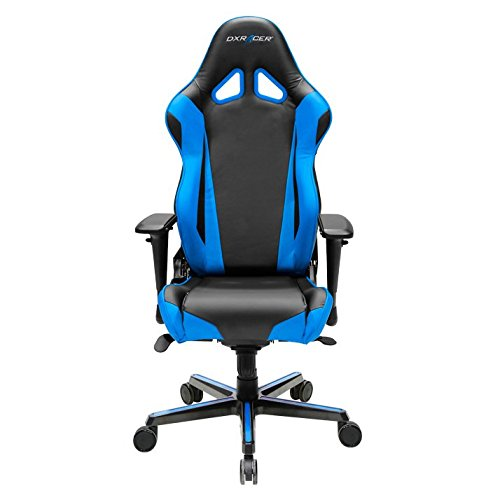 DXRacer OH/RV001/NB Racing Series Black and Blue Gaming Chair - Includes 2 Free Cushions