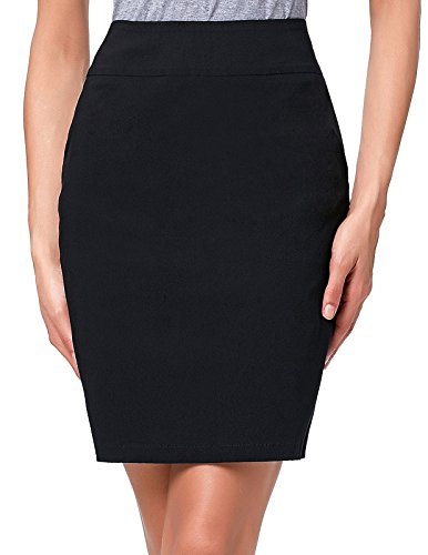 Kate Kasin Elastic Office Wear Above Knee Women Pencil Skirt Size S KK276-1