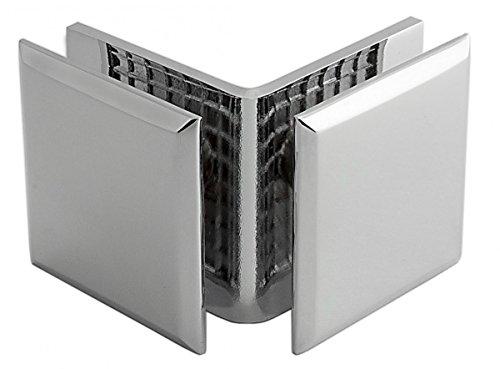 Winkelverbinder Fixum S, Glas-Glas, 90°, Chrom