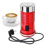 SMLCTY Montalatte Elettrico con Hot Or Fredda funzionalità Foam Maker Argento in Acciaio Inox Automatico di Latte ugello for Cappuccino e Macchiato (Color : Red)
