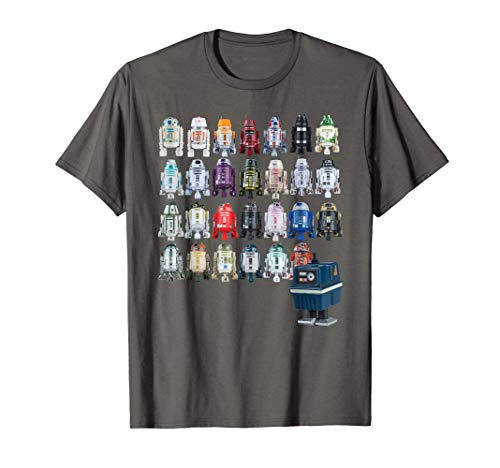 Star Wars Droids R2-D2 and Astromech Gonk Maglietta