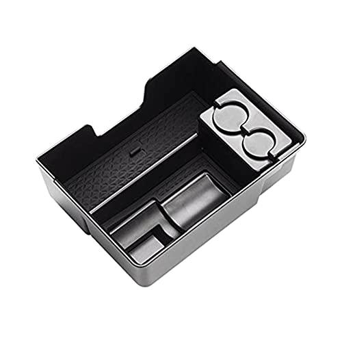 SHOUNAO Tesla Modelo 3 Center Console Organizer Bandeja Accesorios con el Soporte del Adaptador de Carga J1772, el Soporte de la Moneda y la Gafas de Sol Adecuada para Tesla MO (Color Name : Black)