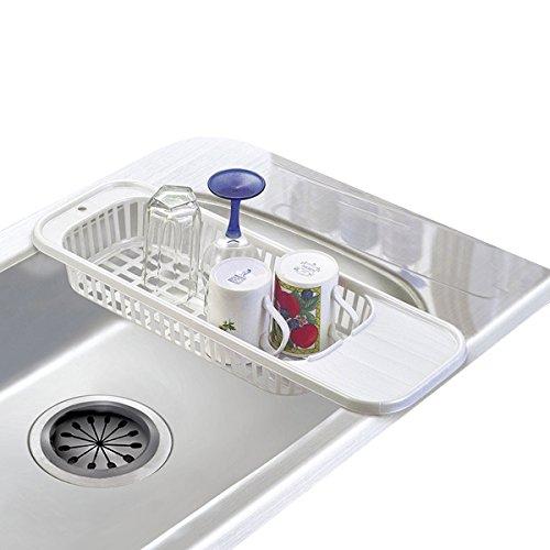 Egouttoir à vaisselle sur le Lavabo Grande taille Plastique blanc