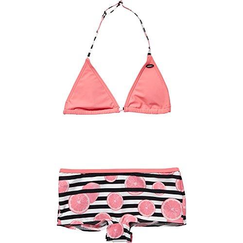O'Neill Mädchen Selva Shorty Bikini Bademode, Black AOP W/Pink, 152
