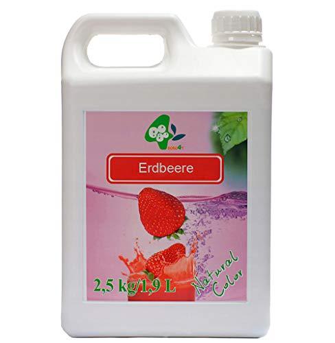 Sirup BoboQ Früchte Obst Für Bubble Tea Erdbeere Boba Bobas 2,5kg 1900 ml