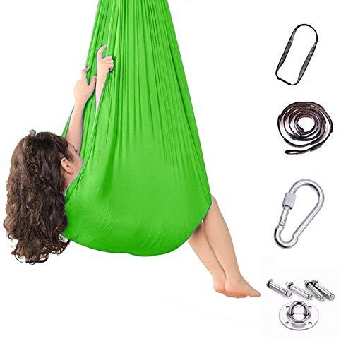 LICHUXIN Columpio Terapéutico Interior para Niños Hamaca Suave con Necesidades Especiales para Niños Yoga Integración Sensorial Camping Al Aire Libre (Hardware Incluido)
