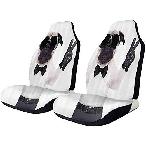 Olive Croft 2PCS Autositzkissen, Hund Katze Haustier Liebe elastisch einfach zu installieren entfernen waschbar Abdeckung
