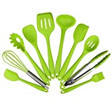 Silicone Kitchen Utensils 10 Piece Cooking Utensil Set, Made of FDA Grade, BPA...