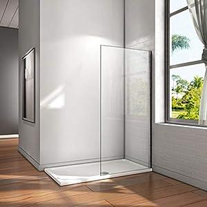 Mampara walk-in, Mampara de ducha fija de 60x200cm,Vidrio templado de 8mm tratamiento antical/Easyclean