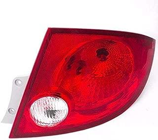 CarPartsDepot 05-10 Chevy Cobalt Sedan Right Tail Light GM2801190 Red Brake Clear Reverse Lens