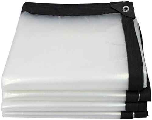 YU-BY Feuillets imperméables résistants extérieurs de polythène renforcés par bache Claire extérieure, épaisseur 0.12Mm,3×6m
