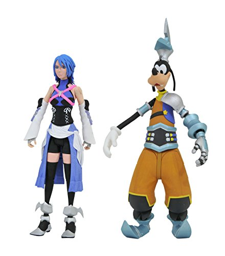 Kingdom Hearts Diamond Select Disney Series 2 Aqua & BBS Goofy Action Figure 2 Pack