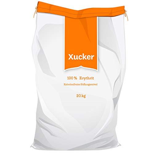 20kg Xucker Light Erythrit kalorienfrei - Zuckerersatz als Vegane & zahnfreundliche Zucker Alternative zum Kochen & Backen I Erythrit ohne Stevia I Natürliche Süße zuckerfrei