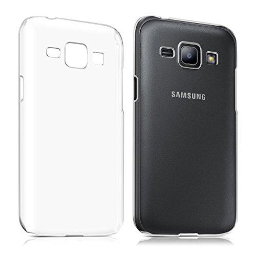 REY Funda Carcasa Gel Transparente para Samsung Galaxy J1 Ultra Fina 0,33mm, Silicona TPU de Alta Resistencia y Flexibilidad