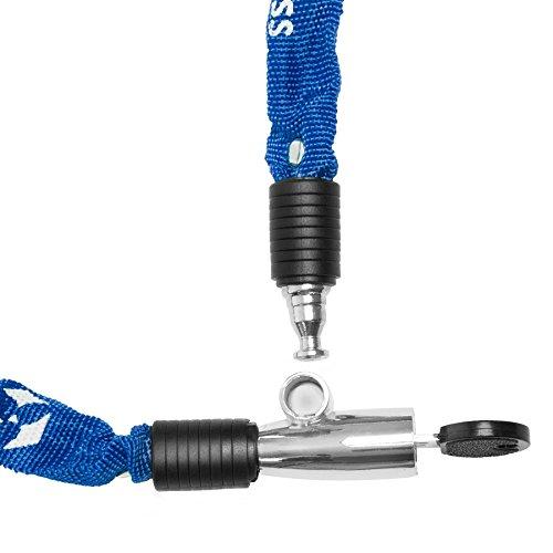 Fahrradschloss »Guardian« Sicherheitsschloss / Radschloss / Stahlgliederketten mit Schlüsseln zur Basisabsicherung - Inkl. 2 Schlüssel /ca. 60 cm lang, Durchmesser ca. 20 cm, Stärke ca. 3-4mm blau - 3