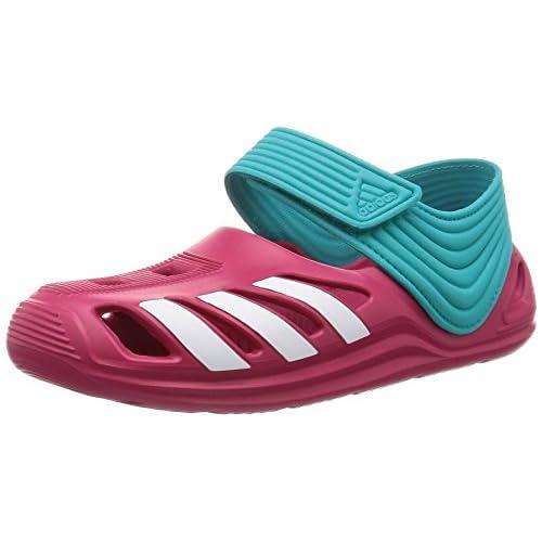 adidas Zsandal C, Ciabatte da Spiaggia Bambini Multicolore Rosa/Blanco/Azul (Rosfue/Ftwbla/Verimp) 34