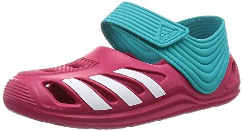 adidas Zsandal C, Chanclas Unisex niños, Rosa/Blanco/Azul (Rosfue/Ftwbla/Verimp), 30