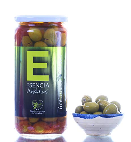 Aceituna Verdial Aliñada 700 Gr- Esencia Andalusí- Producto de Jaén (2 Unidades)