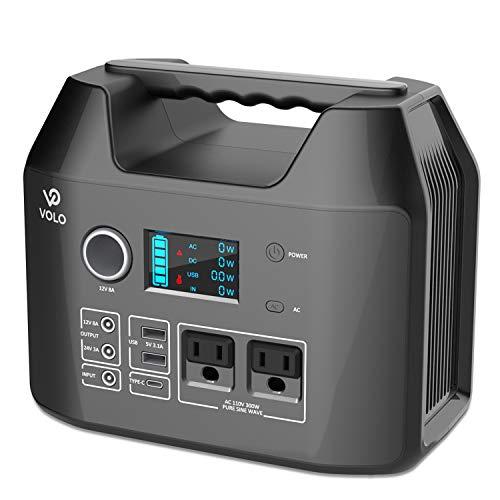 ポータブル電源 VOLO 300 80000mAh/296Wh 純正弦波 急速充電QC3.0 家庭用蓄電池 PSE認証済 非常用電源 AC(3...