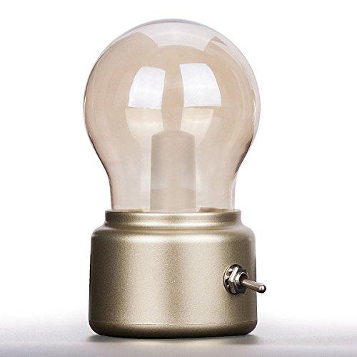 Vintage Lampada, LightsGoal LED Lampada Retro, Luce Vintage, Luce Decorazioni Retro, Lampadina USB, Lampadina Decorativa, Lampadine a Luci Soffuse, Decorazione Luce per Cena, Party, Sfilata di moda