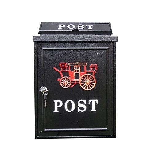 CS Schubkarre Briefe Box Villa im freien Postfach Wandbehang wasserdichte Box Cast Aluminium einfach ( Color : B )