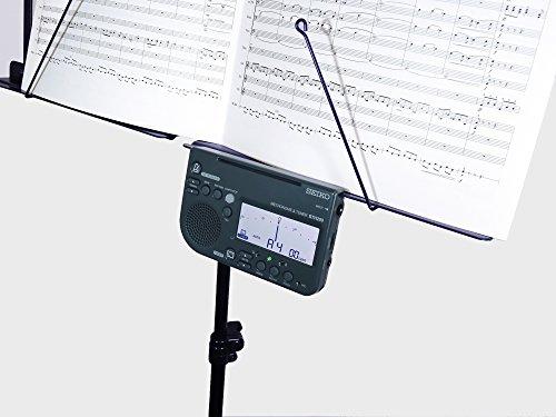 SEIKOセイコーメトロノームチューナー大音量譜面台取付可能吹奏楽部に最適ブラックSTH200B