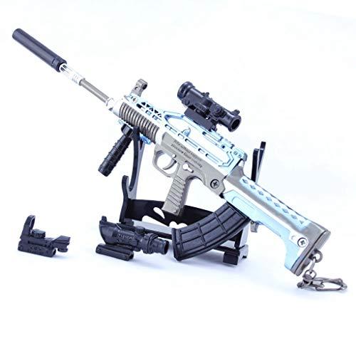 DJIEYU 1/4 Escala del Ejército Militar Miniatura Mini 95 Automático Rifle Pistolas de Metal Modelo Pistola Figura Accesorios Juguete Llavero Die Cast Decoración Juguetes
