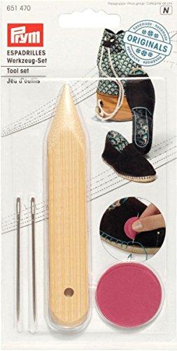Prym gereedschapsset voor het maken van uw eigen Espadrilles, metaal, meerkleurig, 18 x 9,5 x 1 cm