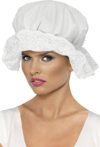 les colis noirs lcn Coiffe Bretonne Femme Blanc - Charlotte Chapeau Accesoire Déguisement - 079