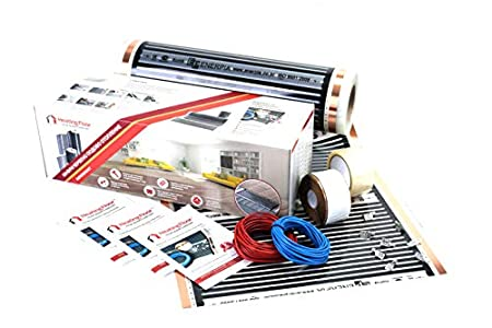 5m2, 220W/m2, Kit de calefacción por suelo radiante eléctrico por infrarrojos